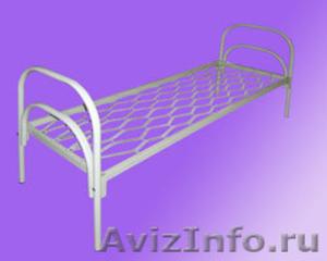 Кровати для турбазы, одноярусные металлические кровати - Изображение #1, Объявление #898315