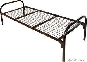Кровати для турбазы, одноярусные металлические кровати - Изображение #2, Объявление #898315