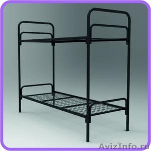 Одноярусные металлические кровати для вагончиков, кровати одноярусные. оптом - Изображение #3, Объявление #1480287