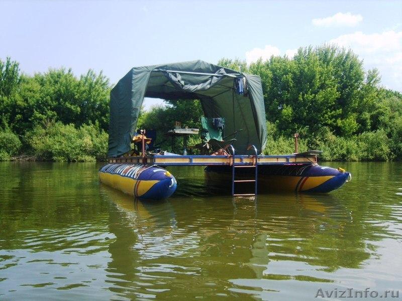плот и лодка