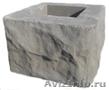 Блоки столбовые Рваный камень и гладкая поверхность.